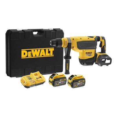 FLEXVOLT 60-Volt Max Li-Ion Brushless Cordless 1-7/8 in. SDS Rotary Hammer Kit with (2) 9 Ah Batteries and Charger