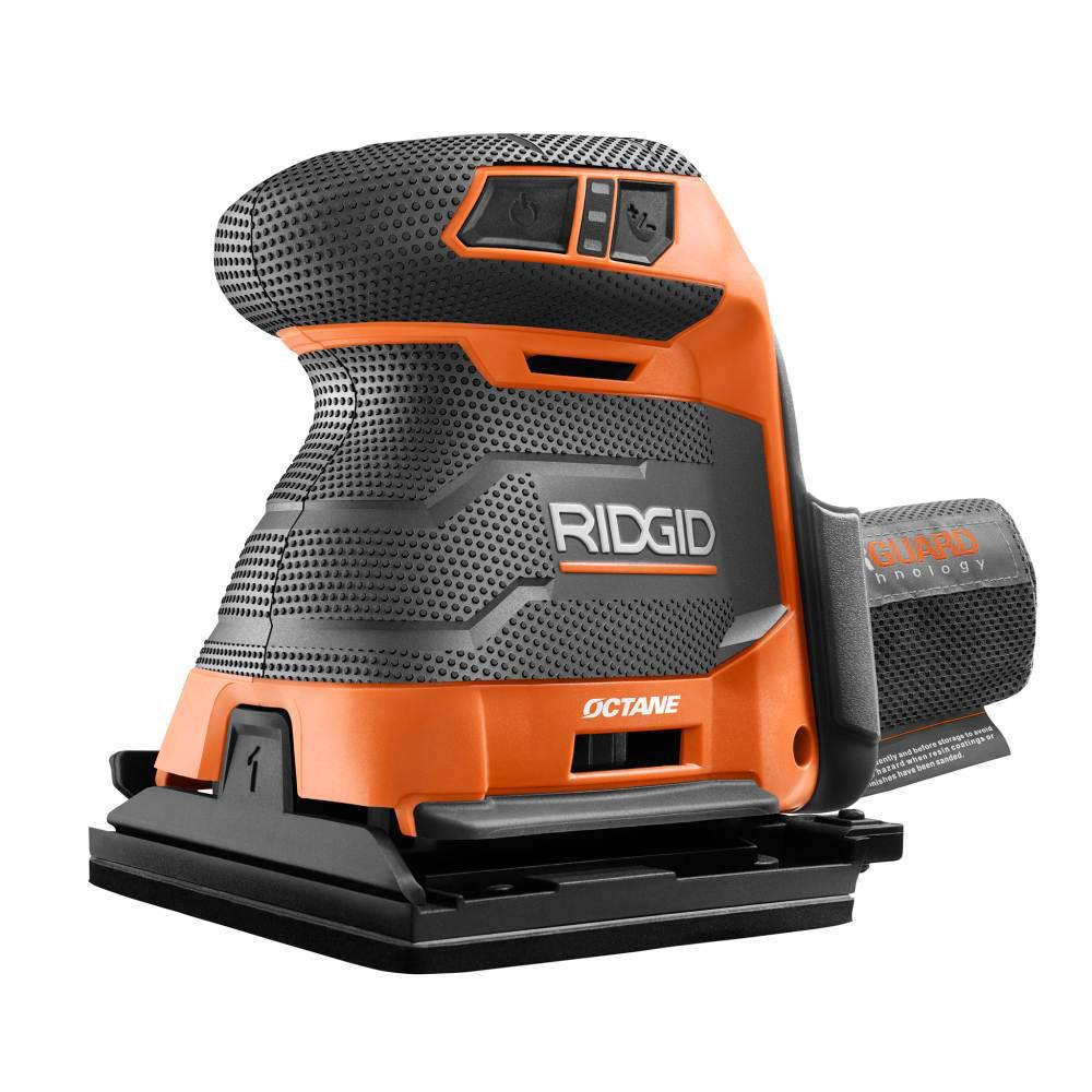 RIDGID 18-Volt OCTANE Cordless Brushless 3-Speed 1/4 Sheet Sander