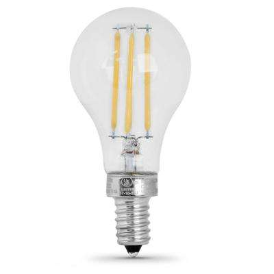 75-Watt Equivalent A15 Candelabra-Base Dimmable Filament LED Clear Glass Light Bulb in Daylight (8-Pack)