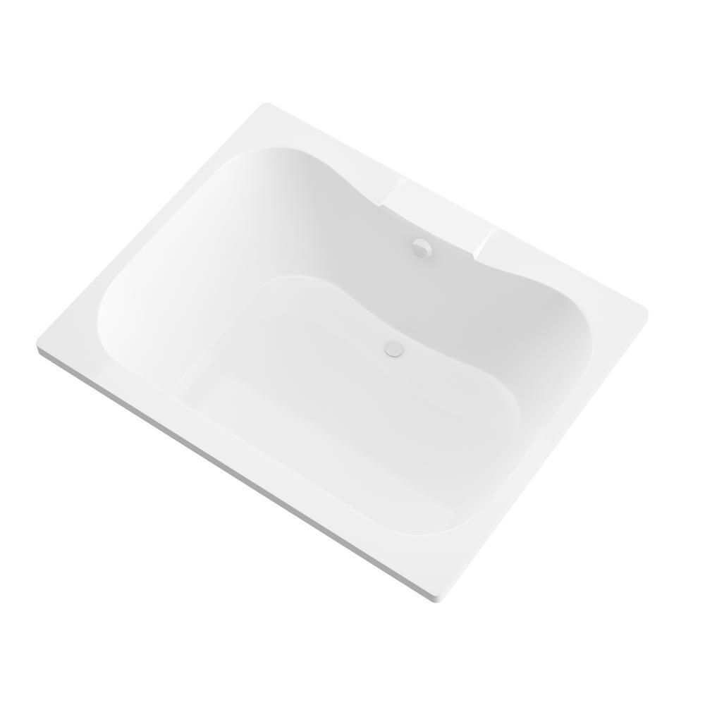Universal Tubs Rhode 5 ft. Rectangular Drop-in Non-Whirlpool Bathtub in White