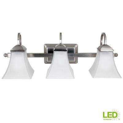 120-Watt Equivalent 3-Light Brushed Nickel Integrated LED Vanity Light