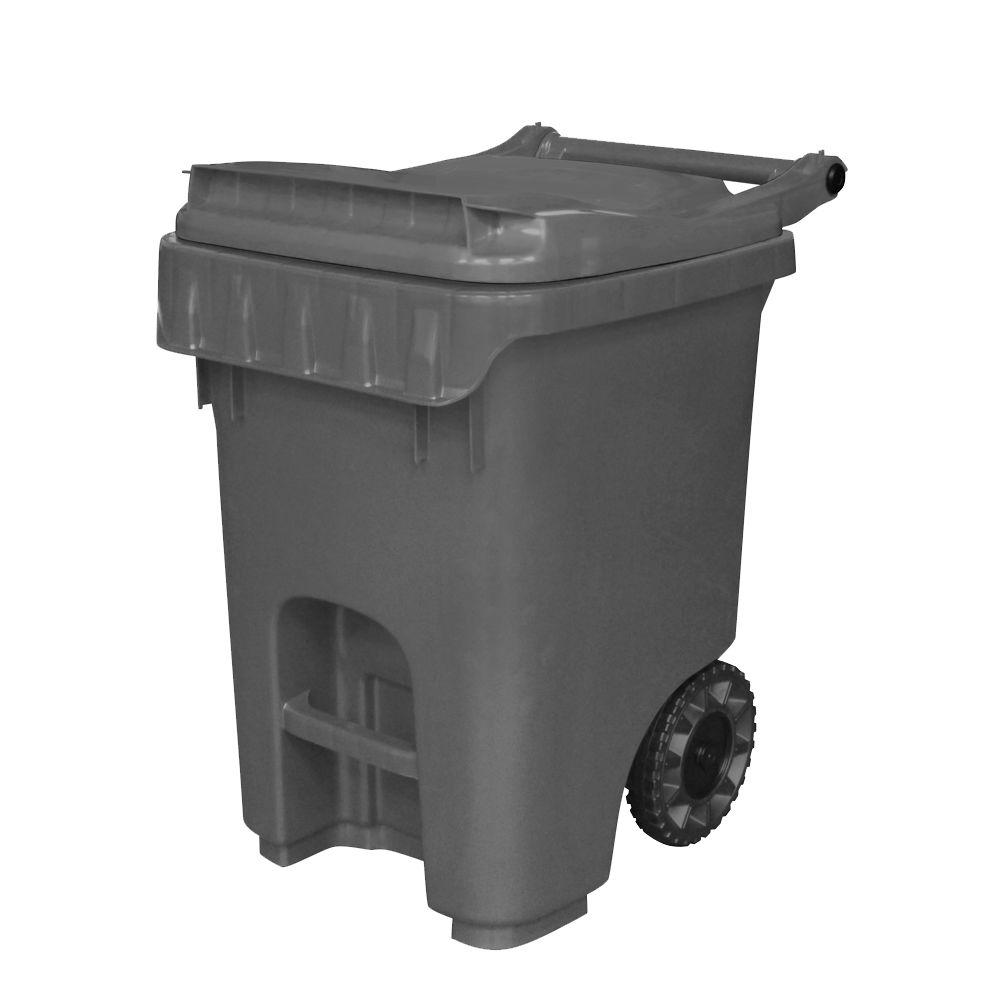 Otto Edge 25 Gal Grey Heavy Duty Rollout Trash Can