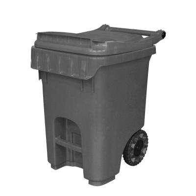 Edge 25 Gal. Grey Heavy Duty Rollout Trash Can