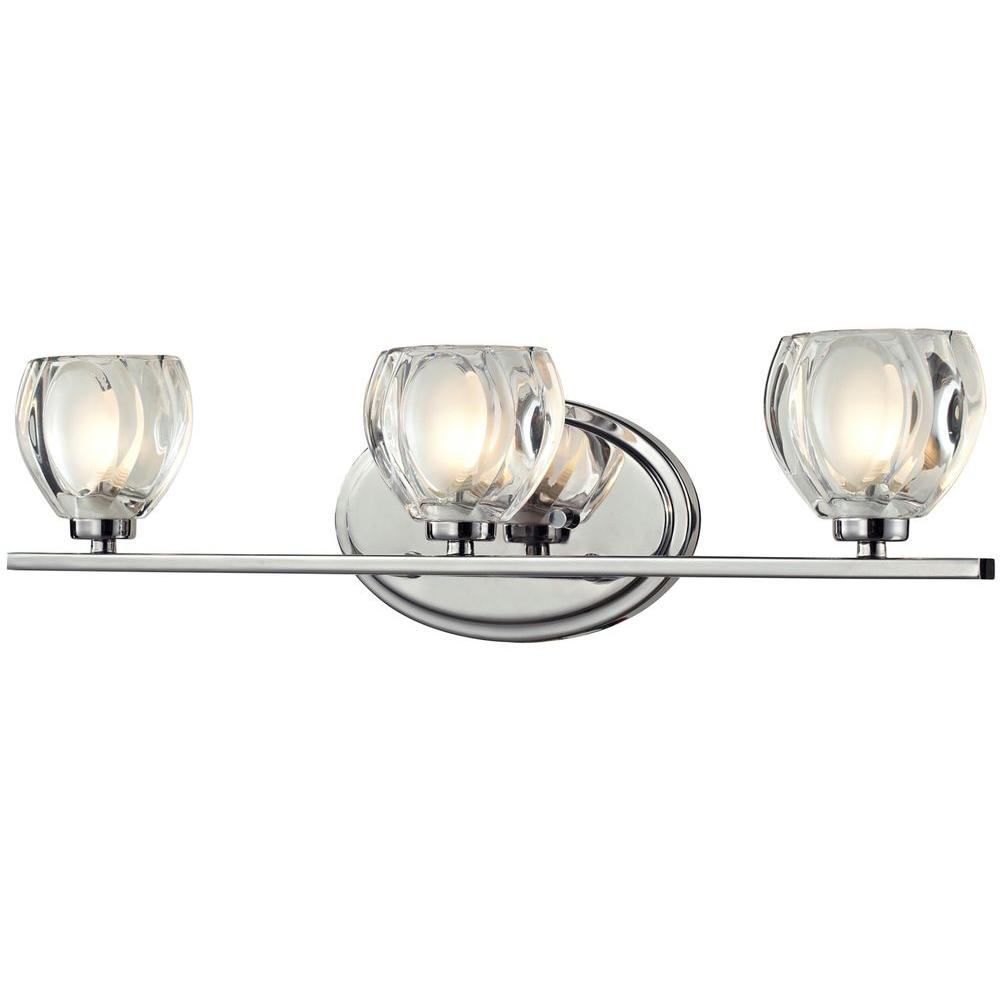 Suave 3-Light Chrome Bath Vanity Light