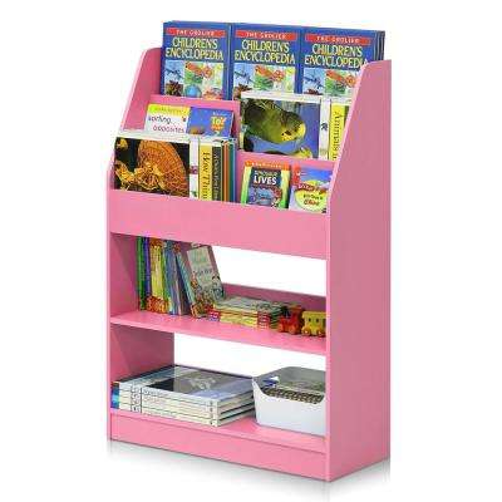 KidKanac Pink Toy Storage Bookshelf