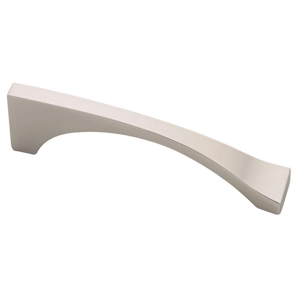 Palladium 3-3/4 in. (96mm) Center-to-Center Matte Nickel Asymmetric Drawer Pull