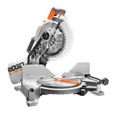 15 Amp 10 in. Dual Miter Saw with LED Cut Line Indicator