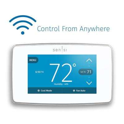 Sensi Touch Wi-Fi 7-Day Programmable Thermostat in White