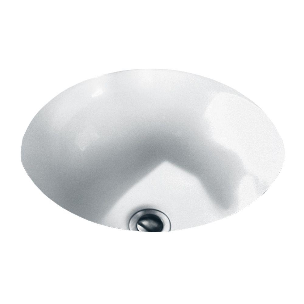 American Standard Orbit Undermount Bathroom Sink In White 0630 000