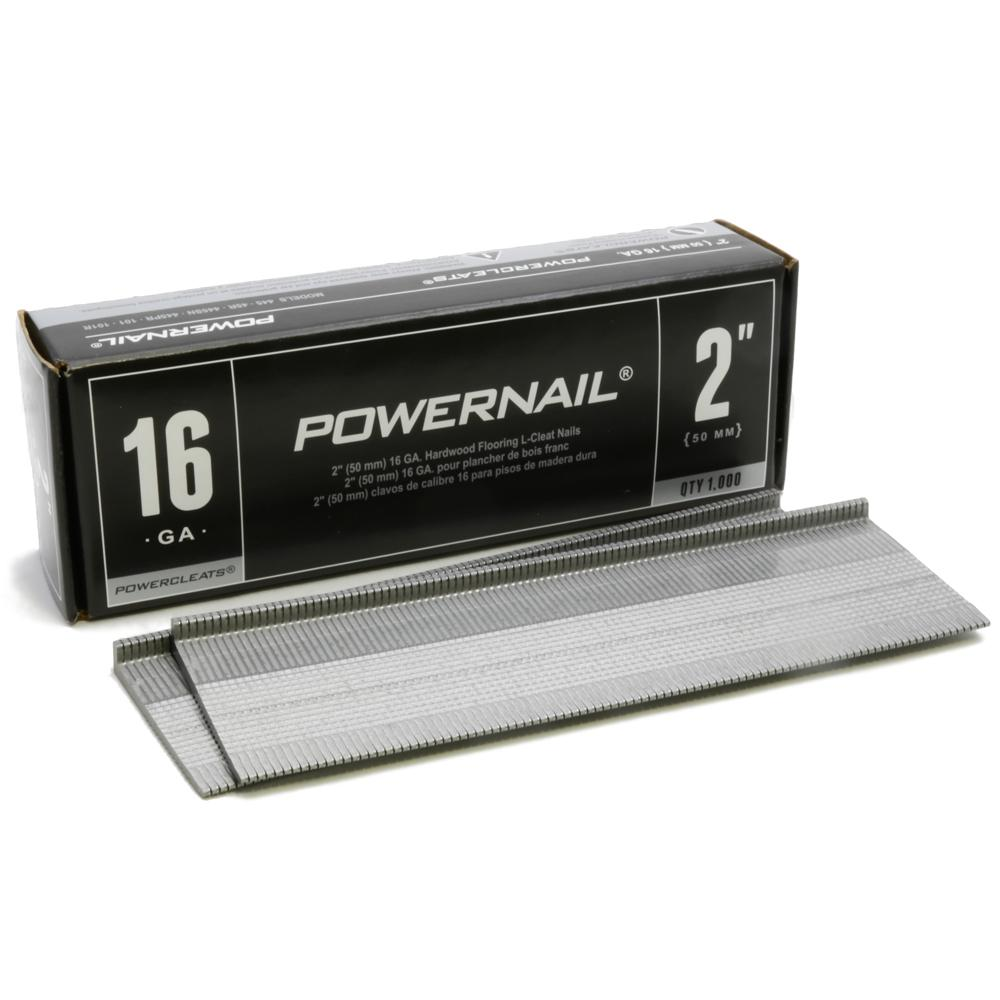 Powernail 2 In X 16 Gauge Powercleats Hardwood Flooring Nails 1000 Pack