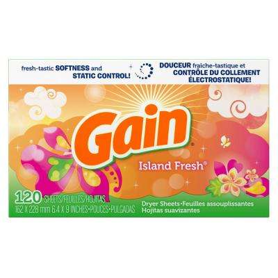 Island Fresh Scent Dryer Sheets (120-Loads)