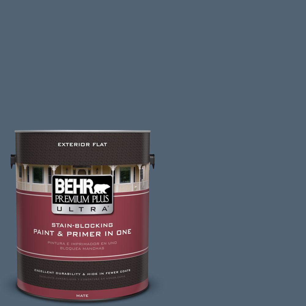 1 gal. #570F-6 Mood Indigo Flat Exterior Paint