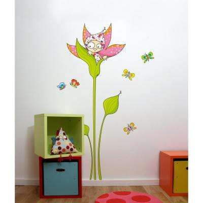"""(46 in x 69 in) Multi-Color """"Violette"""" Kids Wall Decal"""