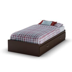 Logik 2-Drawer Twin-Size Storage Bed in Chocolate