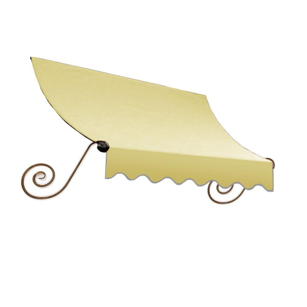 AWNTECH 12 ft. Charleston Window Awning (44 in. H x 24 in. D) in Light Yellow