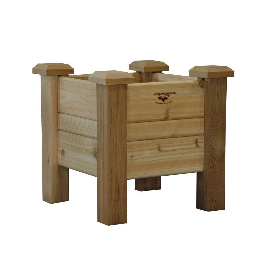 18 in. Square Unfinished Cedar Planter Box