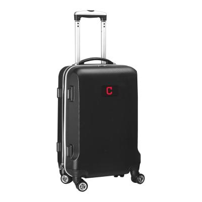Denco MLB Cleveland Indians Black 21 in. Carry-On Hardcase Spinner Suitcase