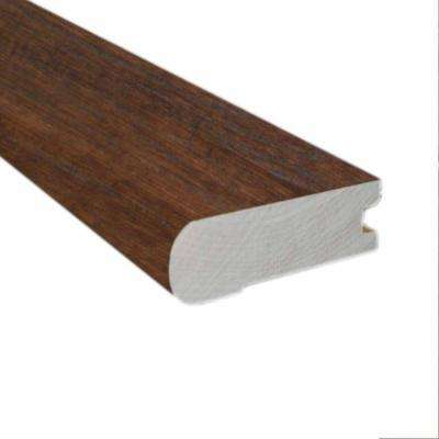 Handscraped Hickory Cocoa 0.81 in. Thick x 3 in. Wide x 78 in. Length Flush-Mount Stairnose Molding