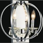 Abia 2-Light Chrome Sconce
