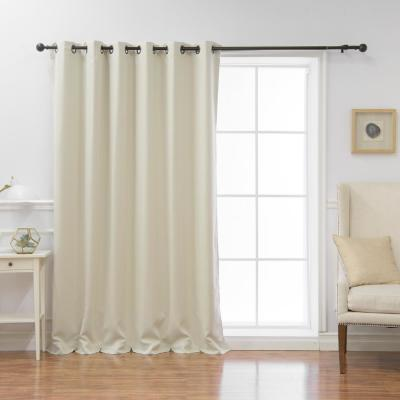 Wide Basic 80 in. W x 84 in. L  Blackout Curtain in Ivory