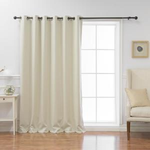 Wide Basic 80 in. W x 96 in. L Blackout Curtain in Ivory