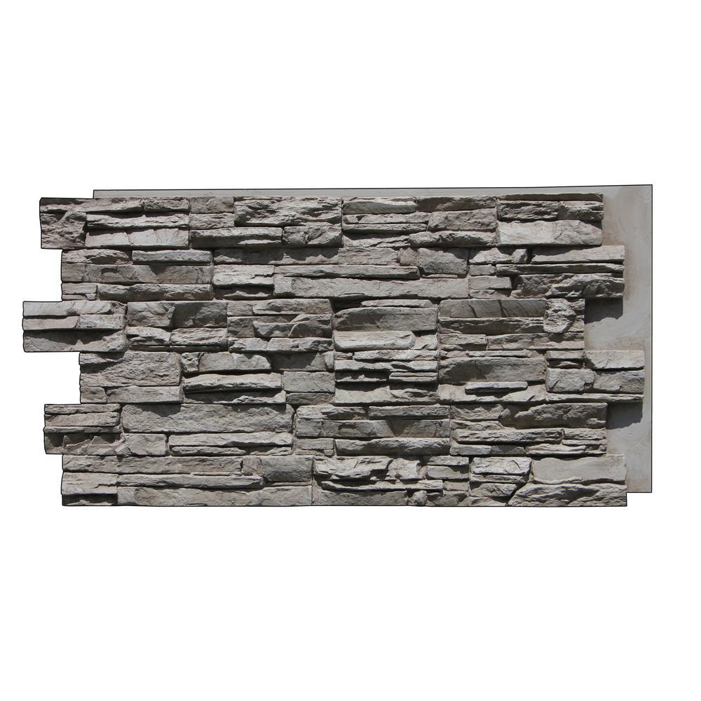 Tritan BP CE-4824-GFX Canyons Edge Faux Stone Siding Panel Gray Fox