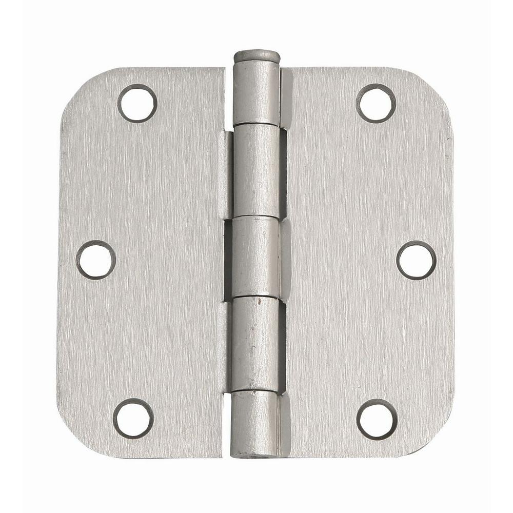 3-1/2 in. x 3-1/2 in. - 5/8 in. Radius Satin Nickel
