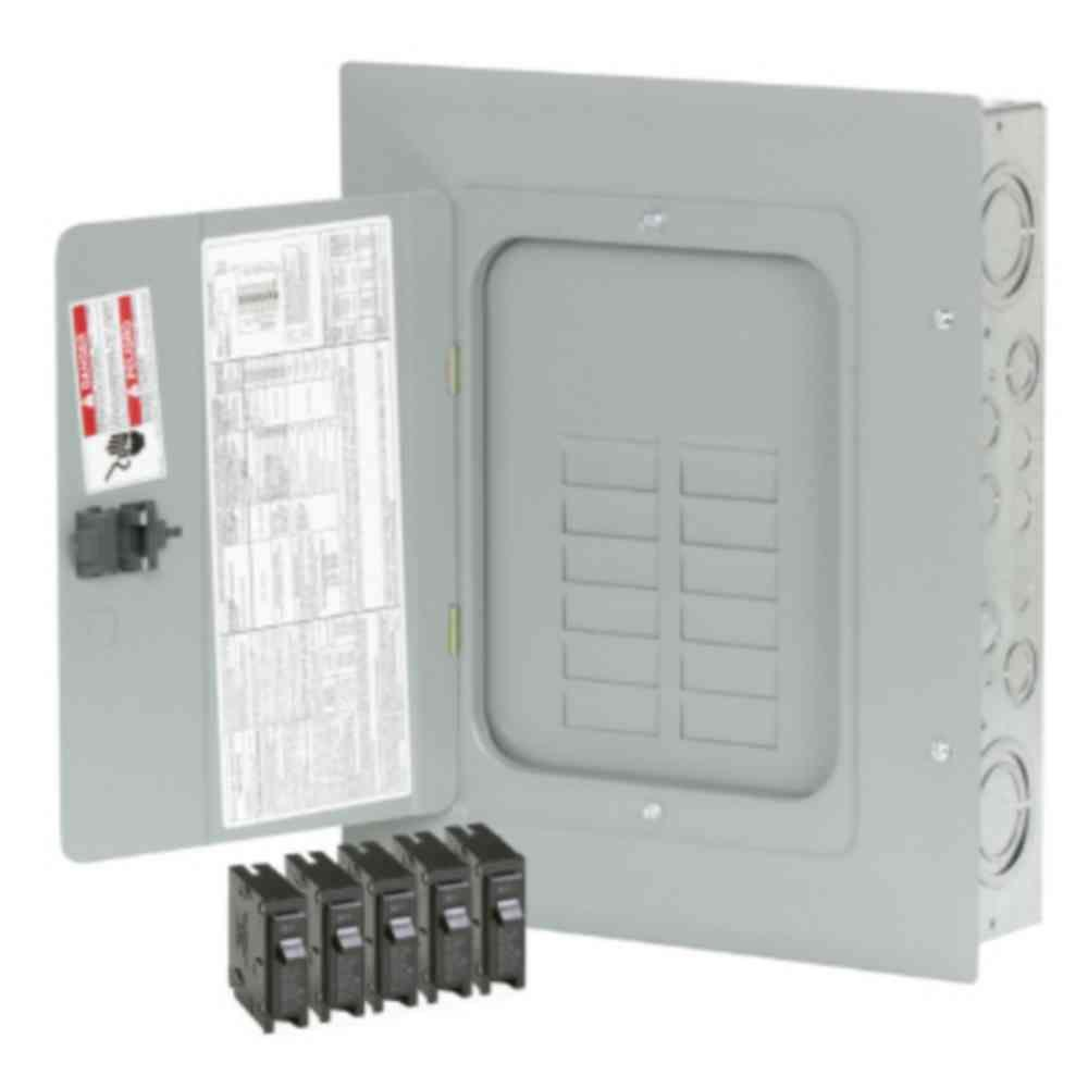 Subpanels Breaker Boxes The Home Depot Main Electrical Sub Panel Wiring Diagram Br 125 Amp 12 Space 24 Circuit Indoormain Lug Loadcenter With Cover Value Pack Includes