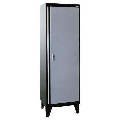 79 in. H x 24 in. W x 18 in. D Modular Steel Single Door Cabinet Full Pull in Black/Multi-Granite