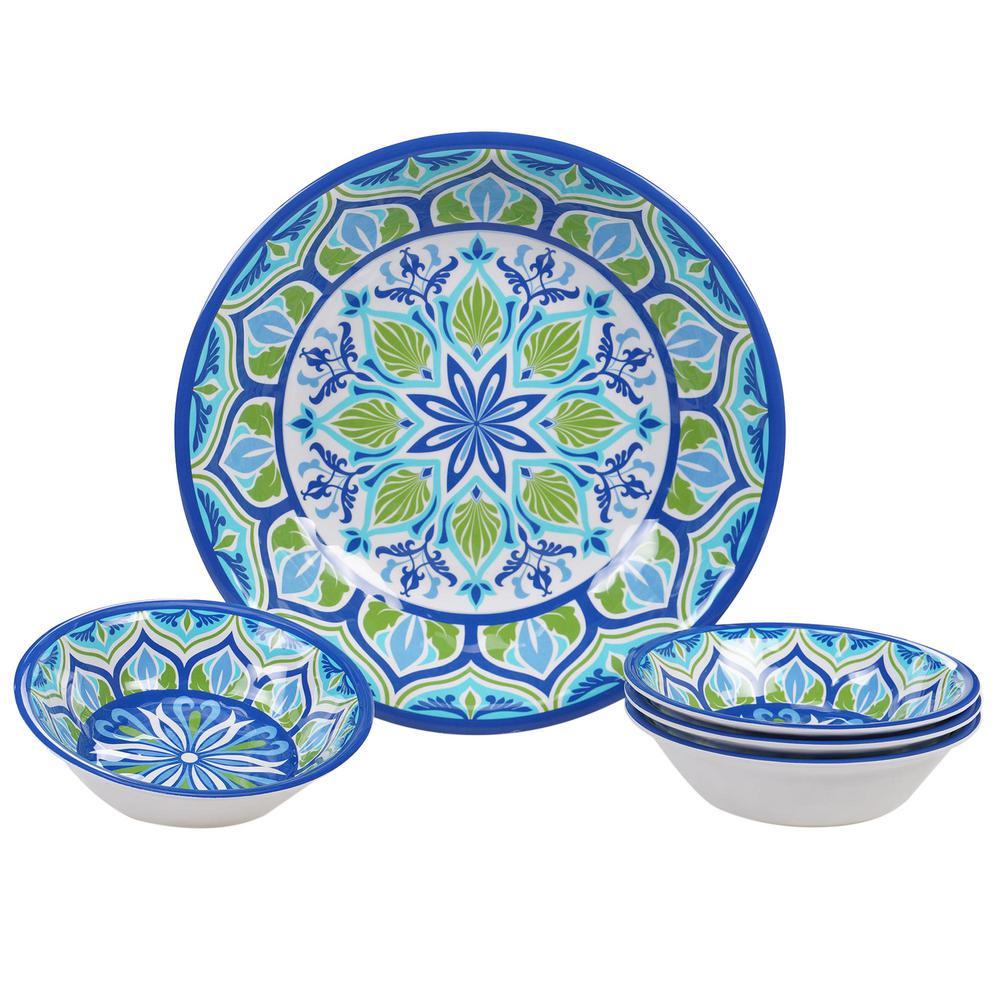 Certified International Morocco Multicolor Salad/Serving Set (Set of 5) MOR5PC