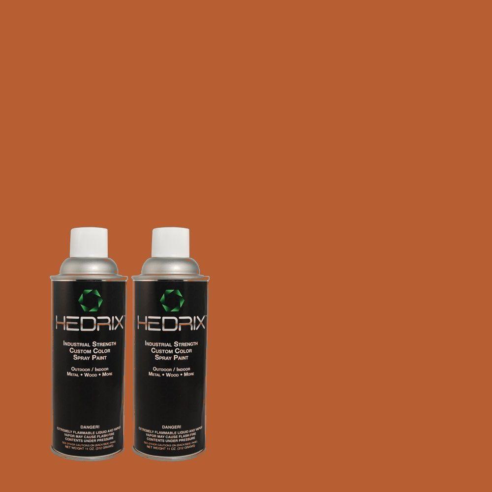 Hedrix 11 oz. Match of S-H-220 Summer Heat Flat Custom Spray Paint (2-Pack)