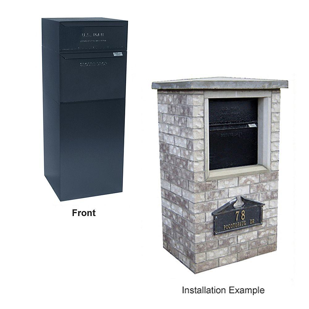 dVault Locking Curbside Mail and Package Delivery Vault Mailboxes in Black