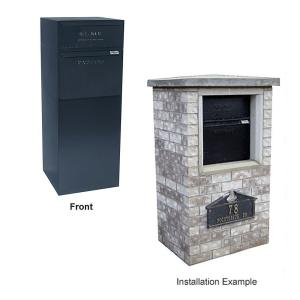 dVault Locking Curbside Mail and Package Delivery Vault Mailboxes in Black by dVault