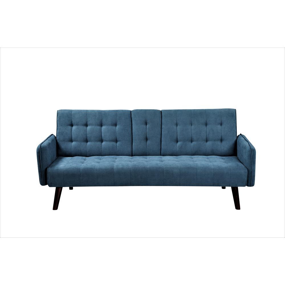 Payne Convertible Blue Sofa Bed Sleeper