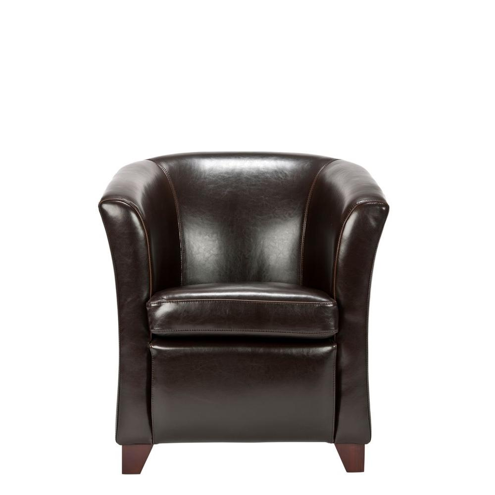 Safavieh Greta Brown Bicast Leather Club Arm Chair