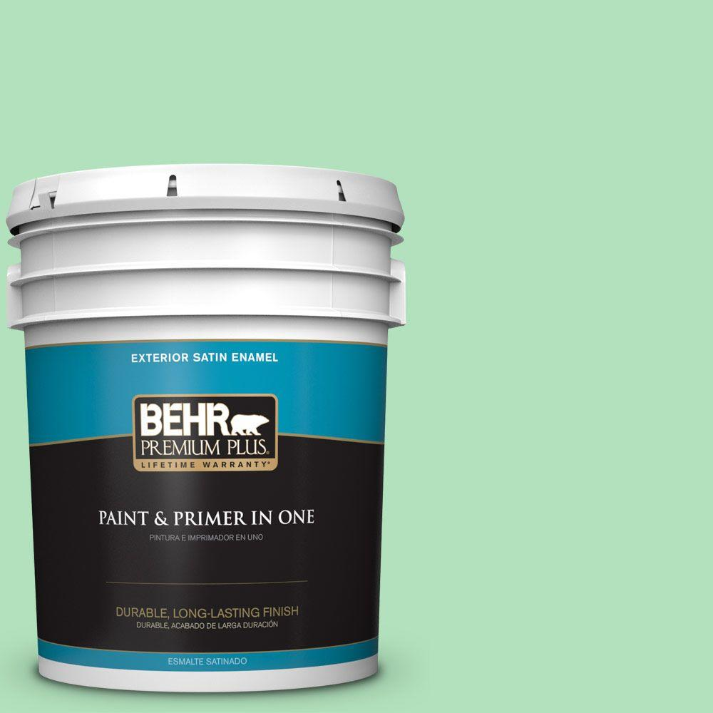 BEHR Premium Plus 5-gal. #P400-3 Folk Tale Satin Enamel Exterior Paint