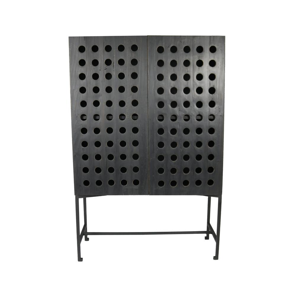 Scrivia Blackwood 2-Door Black to Brown Cabinet