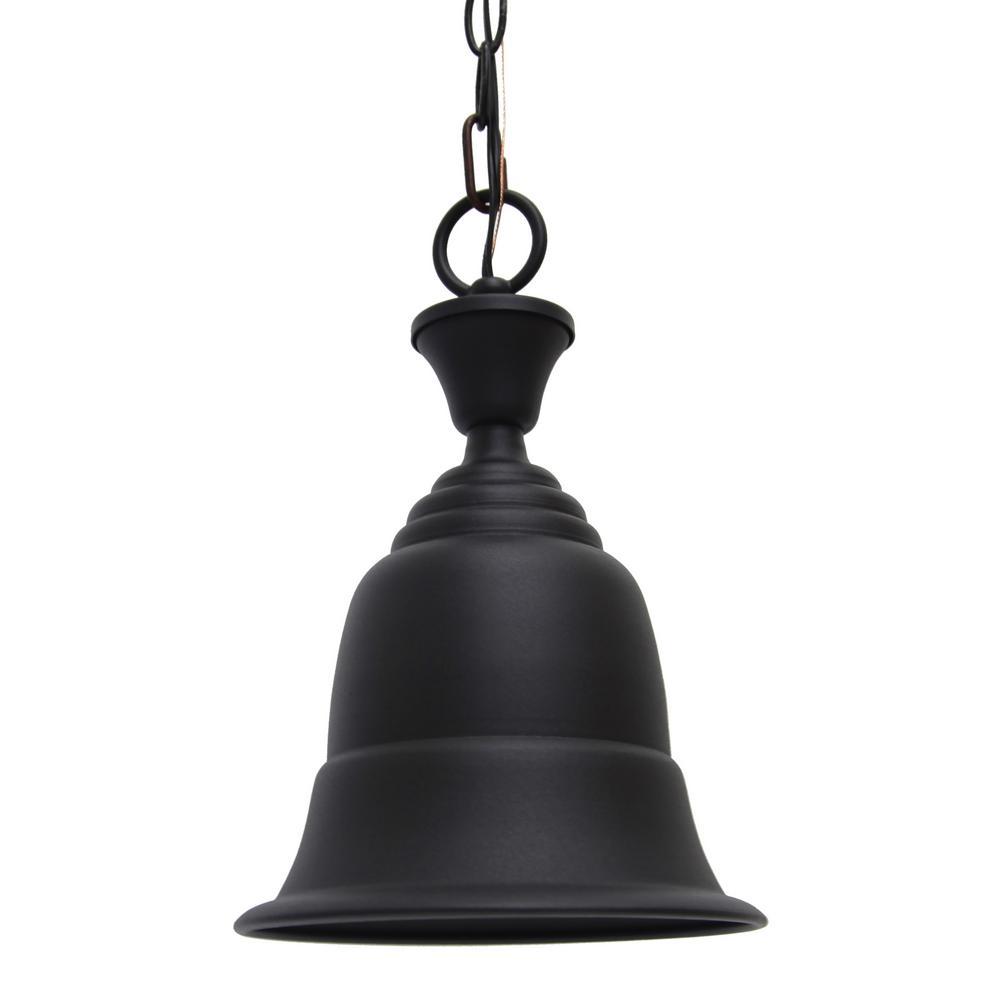 Liberty 1-Light Black Outdoor Hanging Light