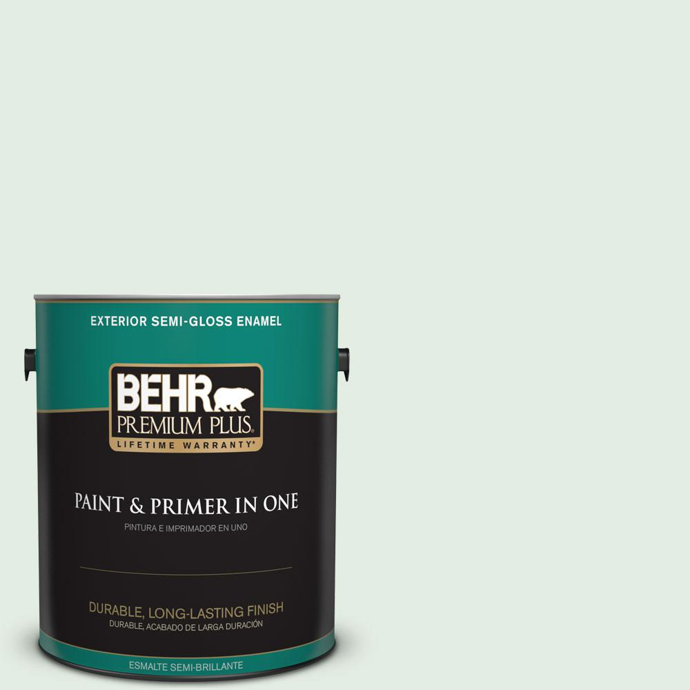 1-gal. #460C-2 Spearmint Stick Semi-Gloss Enamel Exterior Paint