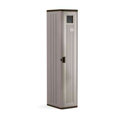 72 in. X 15 in. X 20 in 2-Shelf Resin Tall Storage Locker in Platinum