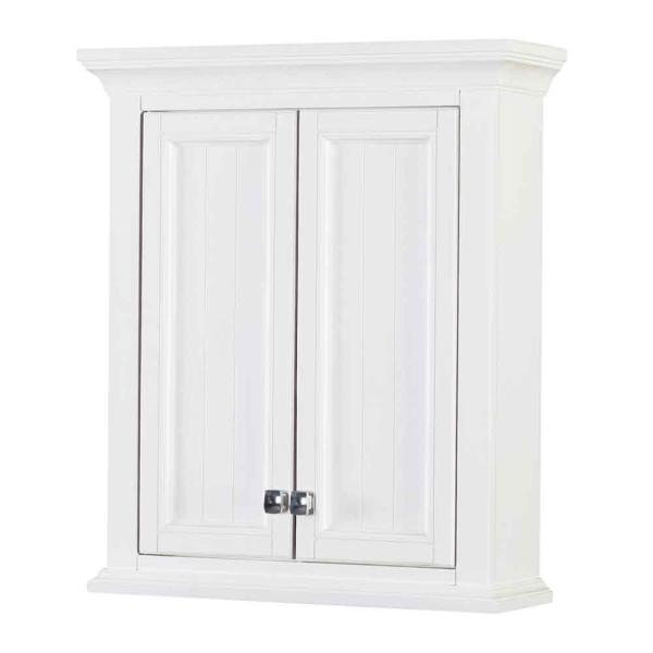 Brantley 24 in. W x 28 in. H Surface Mount Wall Cabinet in White