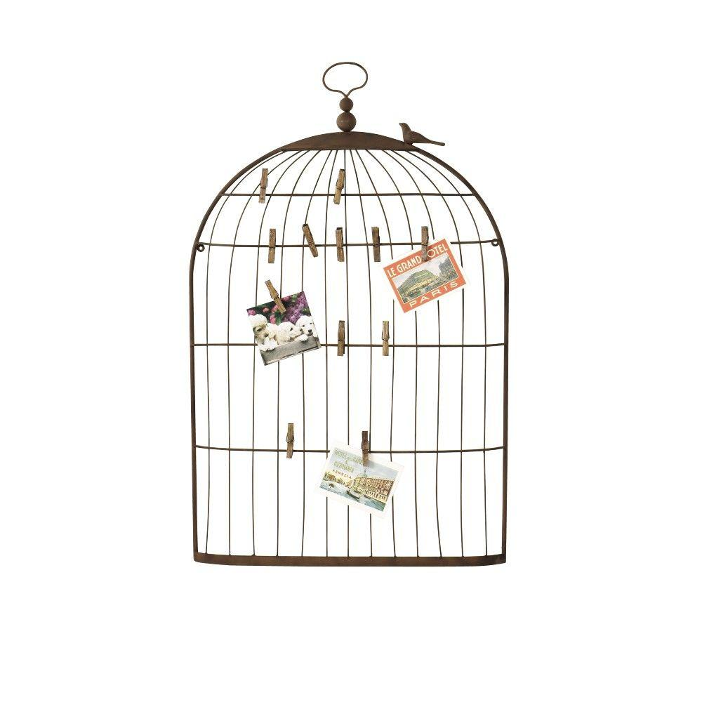 Home Decorators Collection 35 in. H Bronze Bird Cage Card Holder