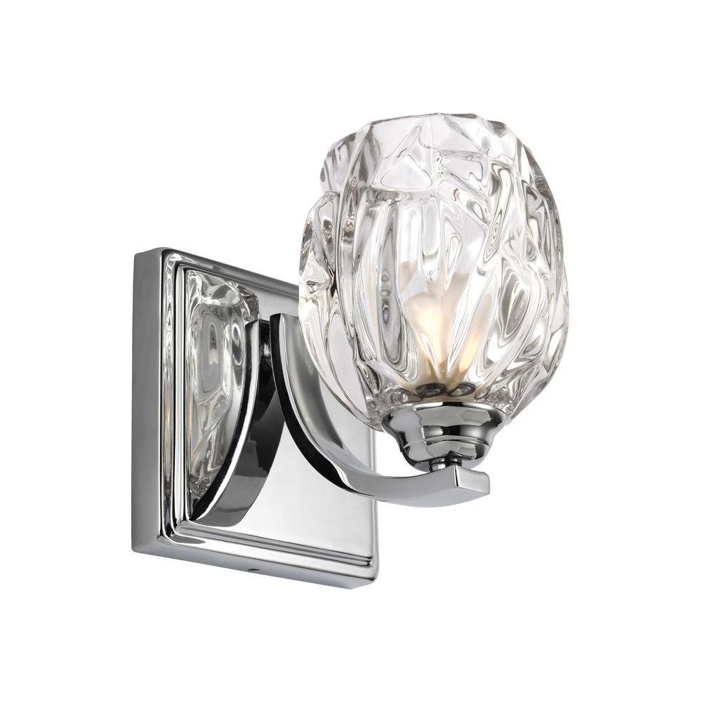 Kalli 1-Light Chrome Wall Bath Light