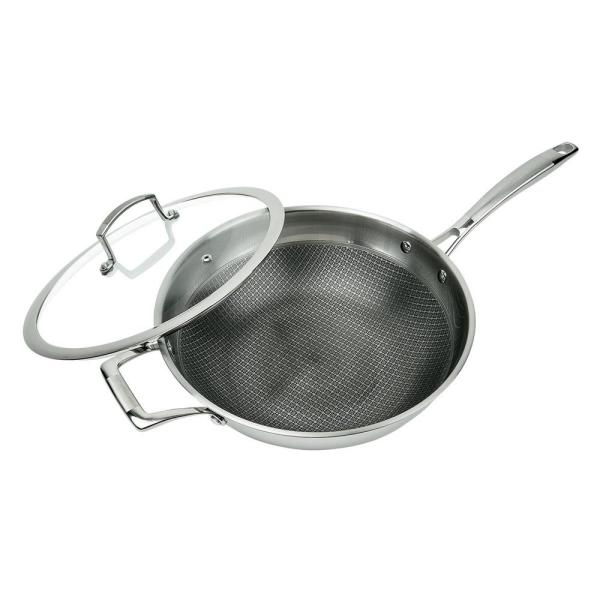 MasterPan 3-Ply Stainless Steel Premium ILAG 11 in. Non-Stick Scratch-Resistant