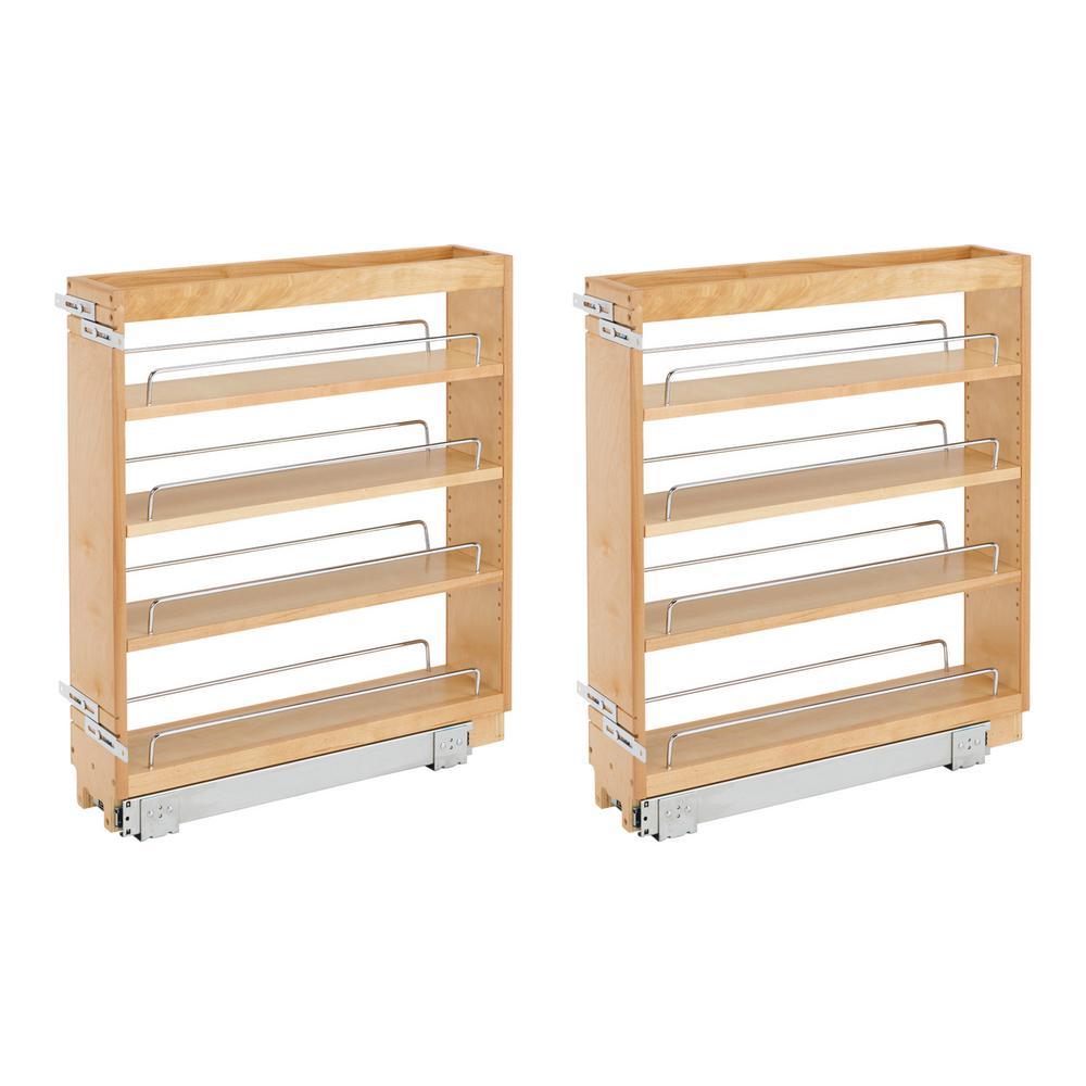 REV-A-SHELF 5 in. Wood Base Kitchen Cabinet Organizer ...