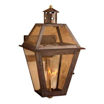 Grande Isle Washed Pewter Gas Outdoor Wall Lantern