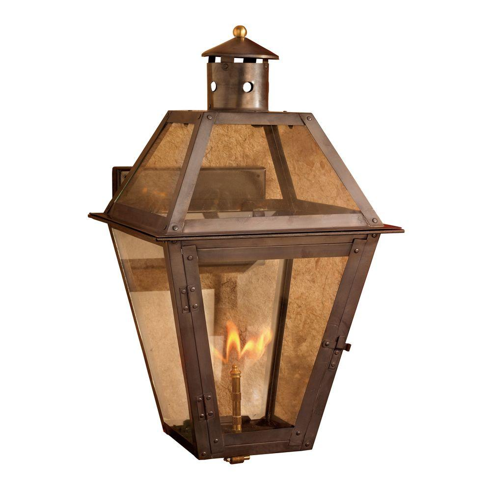 online retailer 4982e 326a7 Titan Lighting Grande Isle Washed Pewter Gas Outdoor Wall Lantern Sconce
