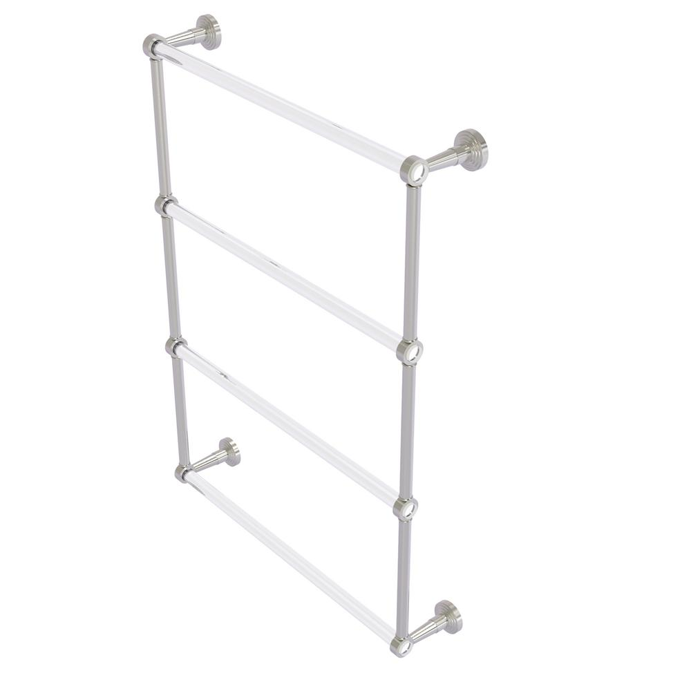 Allied Brass Pacific Beach 4 Tier 24 In Ladder Towel Bar In Satin Nickel Pb 28 24 Sn The Home Depot