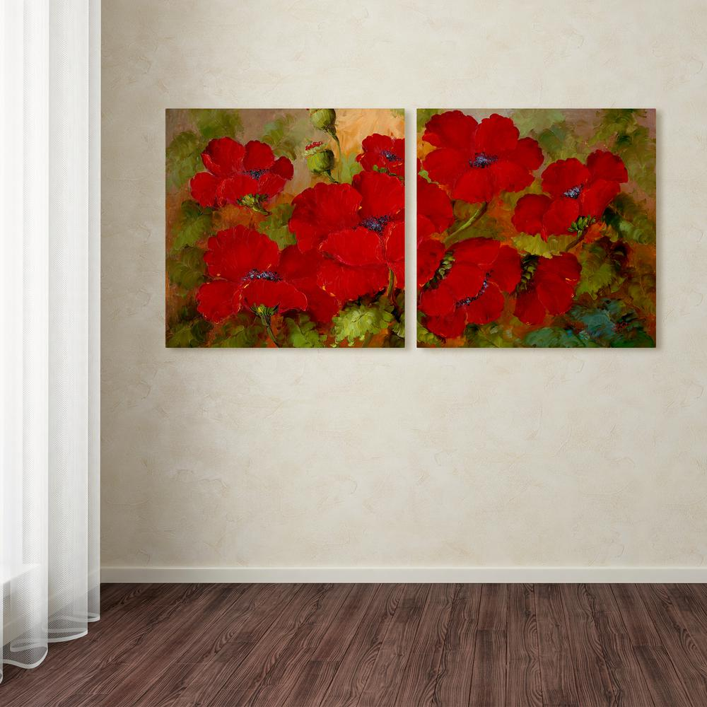 18 in. x 36 in. ''Poppies'' by Rio Printed Canvas Wall Art