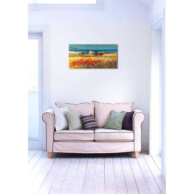18 in. H x 36 in. W 'SAI - Peaceful Fields II' by Oliver Gal Framed Canvas Wall Art